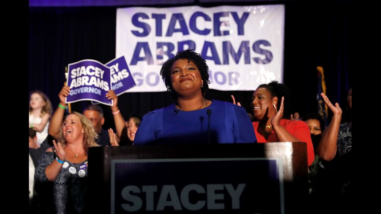 Abrams hopes to become the nation's first African-American female governor by building a broad coalition and mobilizing non-voters, including more people of color. She won Tuesday's Democratic primary in Georgia.