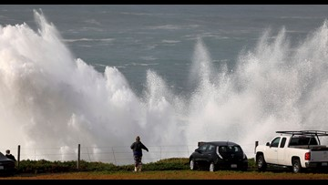 Stay away or 'risk certain death': High surf advisories issued in California as giant waves batter coast