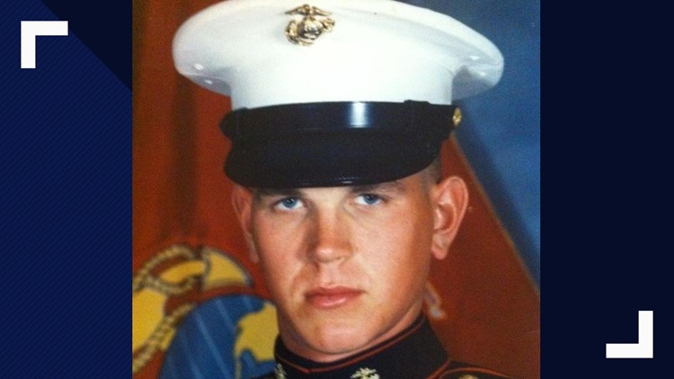 Andrew Ganfield served in the Marines from 1992 to 1999.