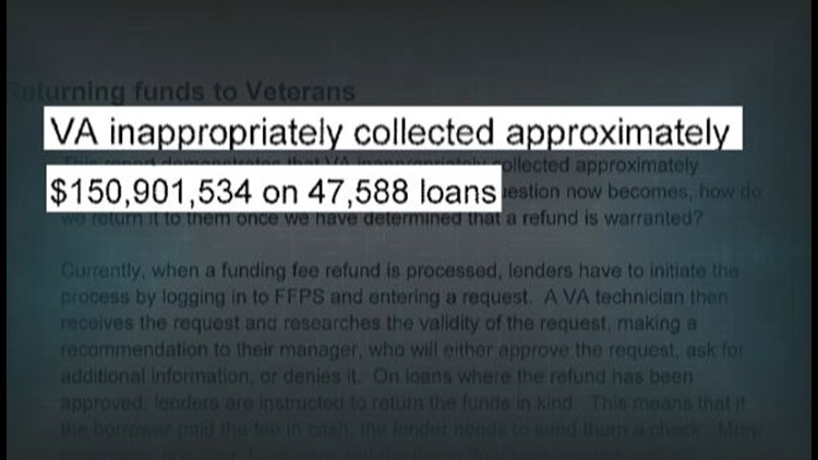 Internal VA records reveal between 2006 and 2014 'VA inappropriately collected approximately $150,901,534 on 47,588 loans.