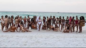 Woman enlists 34 bridesmaids for epic Fla. beach wedding