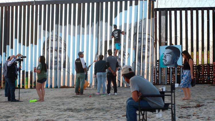 Mexico Border Wall Mural