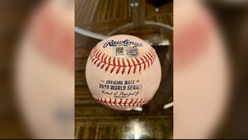 Juan Soto's HR ball retrieved from Minute Maid train tracks, headed to the Hall of Fame