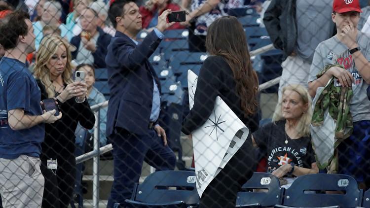 Fans heckling Astros spring opener versus Nationals get signs taken away