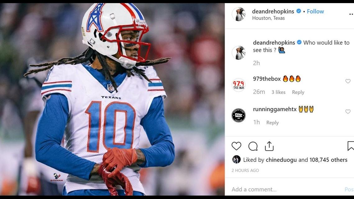 Houston Texans DeAndre Hopkins wants to wear Oilers uniform ...