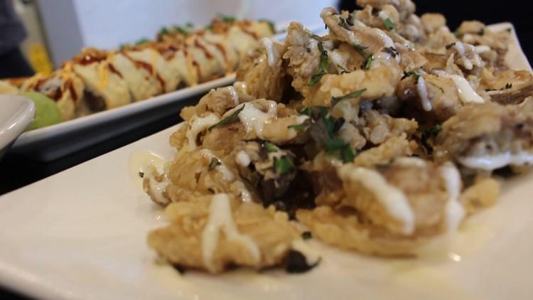 fried mushrooms cafe coeur
