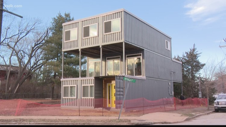 Home made from old shipping containers built in Old North St. Louis