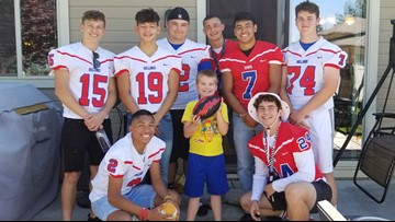 Football team shows up at a boy's birthday party after finding out most of the people invited weren't coming