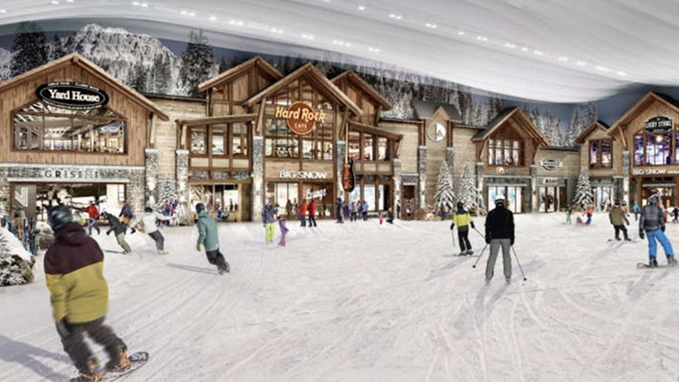 North America's first indoor ski resort just opened in a New Jersey mall