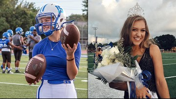 VIDEO: Homecoming queen kicks game-winning extra point in overtime