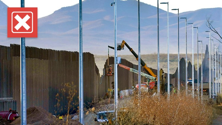 No, the Biden administration is not resuming border wall construction