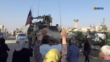 Residents Pelt U.S. Troops With Potatoes Amid Syrian Pullout