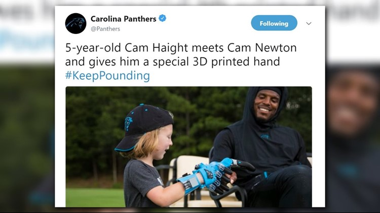 TWINS! 5-year-old Cam gave the other Cam a special 3D printed hand so they could match.