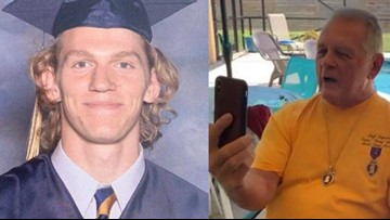 A Vietnam Veteran just awarded slain UNCC student, Riley Howell, with a Purple Heart and Bronze Star, 'He's a true hero'