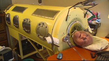 Man in the iron lung finds his angel 10 miles away