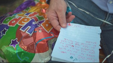 Sisters send balloon to Heaven, receive incredible answer