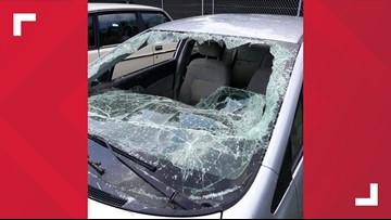 'I'm going to start smashing it'   Good Samaritan uses ax to break car windshield, saving man trapped in floodwaters