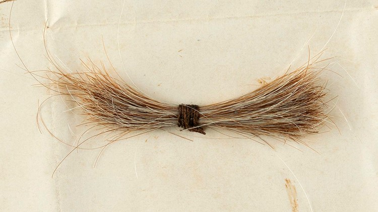 Lock of Abraham Lincoln's hair and bloodied telegram up for auction
