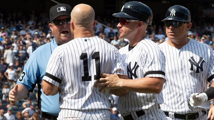 Indians Yankees Baseball ejections