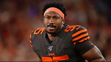 'Strive to be better': Cleveland Browns' Myles Garrett tweets for 1st time since suspension