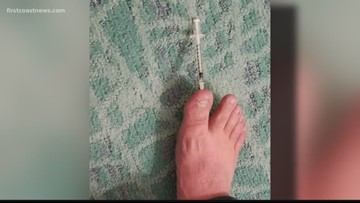 Veteran claims he stepped on used syringe in Jacksonville Beach hotel