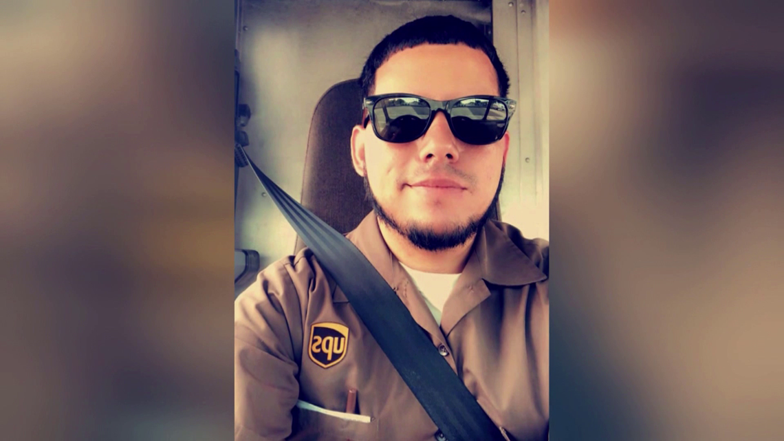 A UPS truck driver was killed during a shootout between police and 2 armed robbers