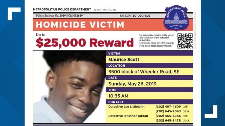 Maurice Scott MPD reward