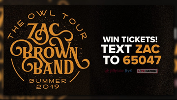 Win tickets to see Zac Brown Band at Jiffy Lube Live