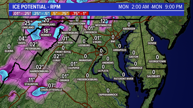 RPM Ice Forecast for 12-16-19