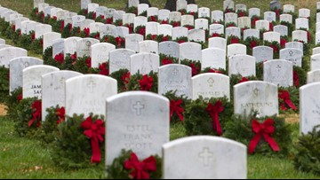 'We will never forget' | Hundreds of thousands of holiday wreaths placed at Arlington National Cemetery