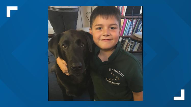 Russell Barrett with Echelon Academy's dog