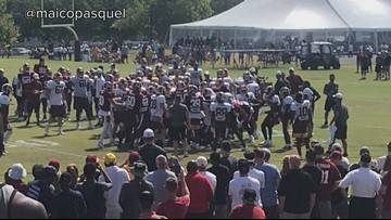 Fight! Tempers flare at Redskins training camp