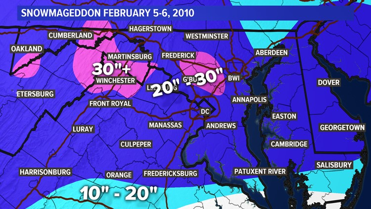 Snowmaggedon 2010 Snow totals