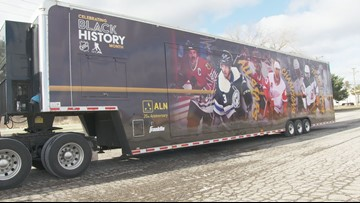 Black hockey history celebrated with mobile museum in downtown DC
