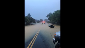 Heavy rain slams DMV, causes flooding, road closures and