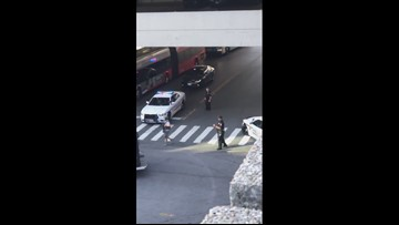 VIDEO: Large police response after officer shot in Silver Spring