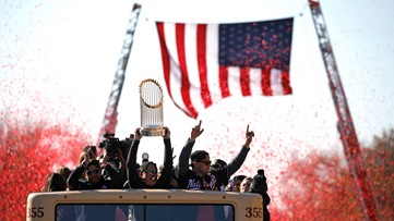 Washington Nationals victory parade and rally in West Palm Beach during Spring Training