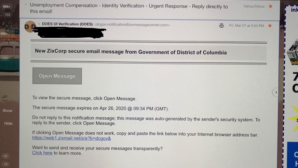 Verify Filing For Unemployment Here Are Scams To Watch For Wusa9 Com
