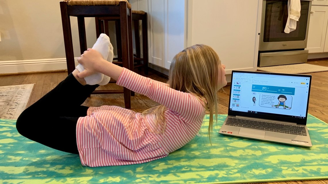 Fairfax County first-graders engage in 'math yoga' via digital learning