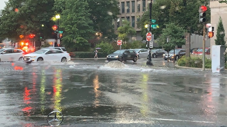 Damage reports in DMV: Power outages, downed trees