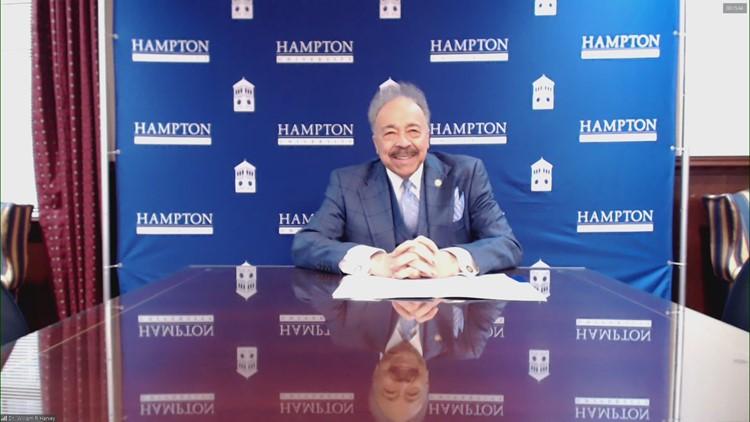 Full interview: Hampton University President Dr. William Harvey to retire