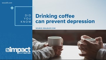 Drinking coffee can prevent depression