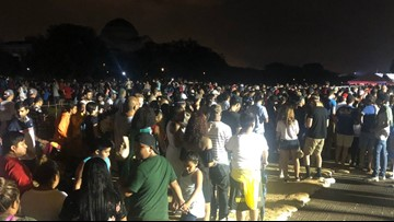 Hundreds gather at Smithsonian Metro station after Fourth of July celebration