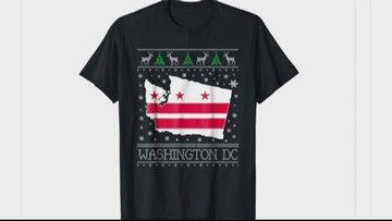 Wait, what? Amazon sells festive shirt mistaking Washington state for Washington DC