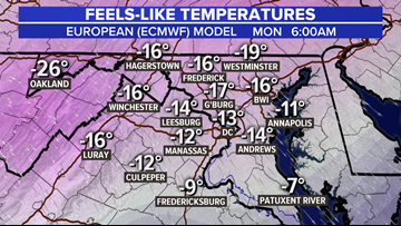 Dangerous Flash Freeze coming to DC MLK weekend: here's what it means, timing