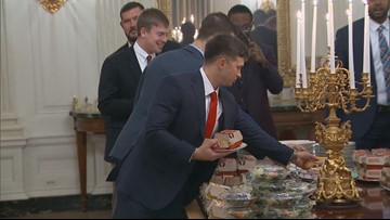 National champions Clemson served fast food at White House