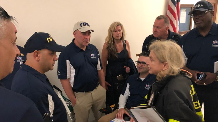 First Responders speak with Rep. Caroyln Maloney, a longtime supporter of the VCF