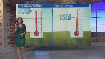Showers exit, cooling off into the 50s and 60s overnight