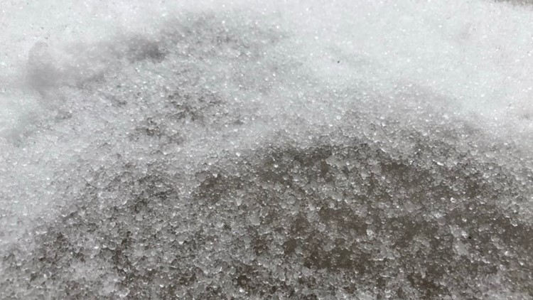 Freezing rain lingers overnight in parts of the metro
