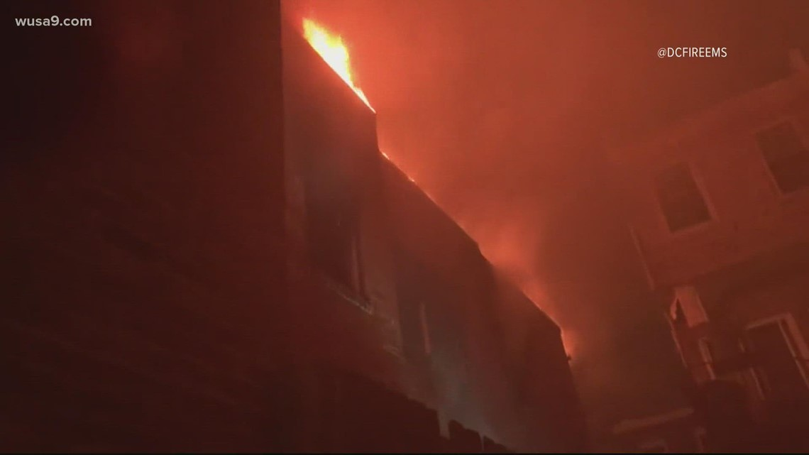 13 displaced, three rescued, one in critical condition after NW DC fire Saturday morning